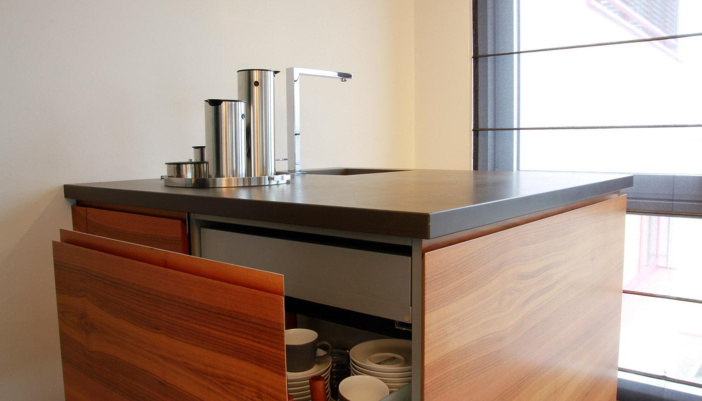 Küchenwürfel - elegant gelöst, auf kleinstem Raum