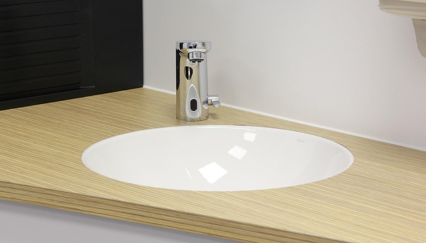 Waschbecken - eleganter Übergang zur Arbeitsplatte